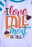 Turquoise I love fall most of all raglan shirt ZX-319373-24 days deal sale