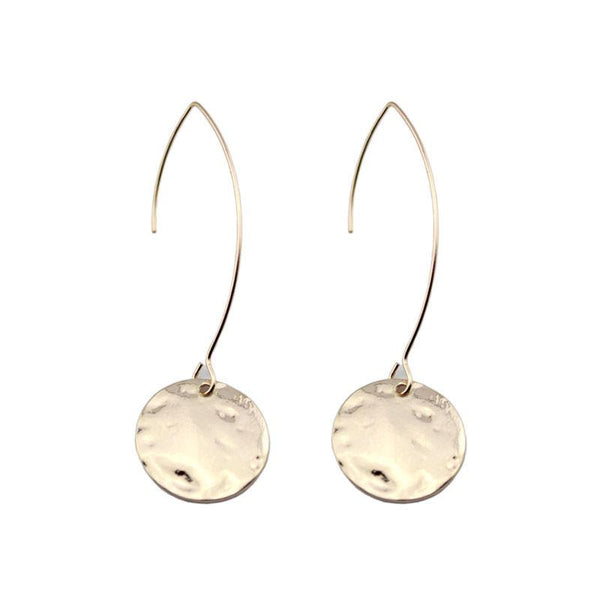 Pressed Metal Hang Earrings