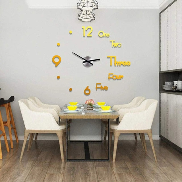 DIY 3D Large Wall Clock