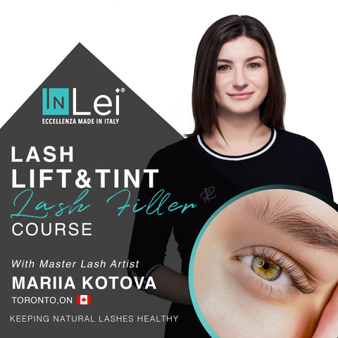 lash lift and tinit training, Inlei lash filler training, Toronto lash lift course