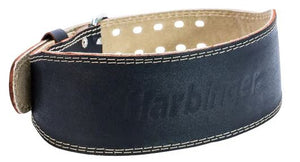 "HARBINGER 4"" PADDED LEATHER LIFTING BELTS"