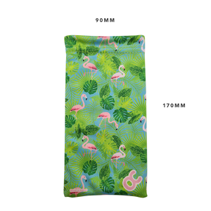 MICROFIBER CLEANING POUCH - FLAMINGO