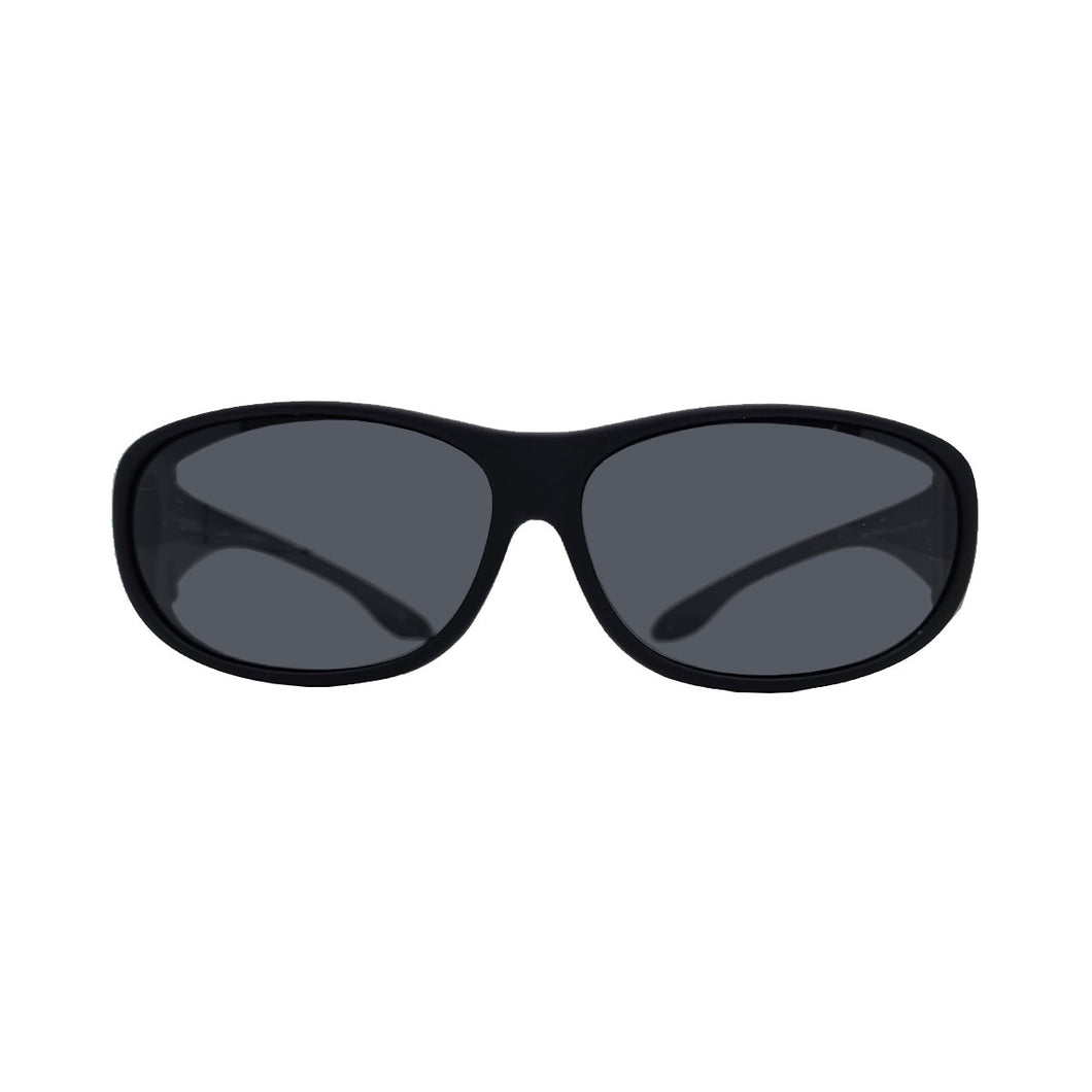 MATT BLACK POLARIZED COVER SUN GLASSES POLARIZED GREY