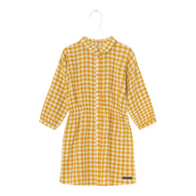 Load image into Gallery viewer, Yellow gingham shirt dress