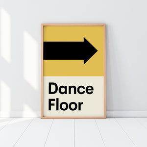 Wonderwalls - Dance Floor print