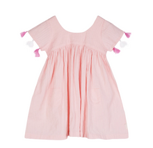Load image into Gallery viewer, Seraphina London - Pink Dress with tassle sleeve