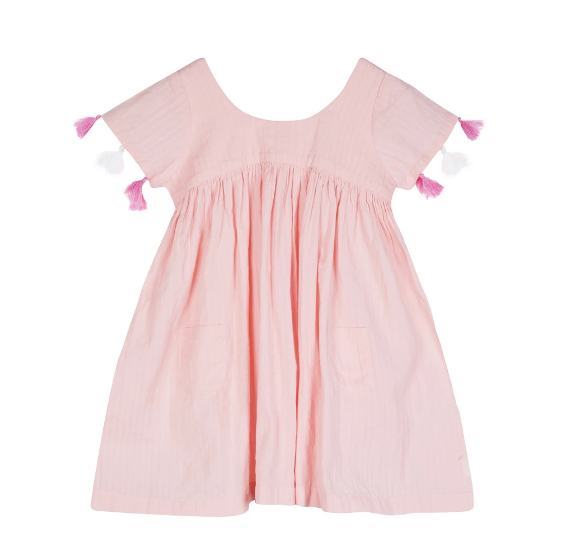 Seraphina London - Pink Dress with tassle sleeve