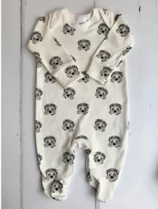 Little Woodlands - Organic hedgehog Sleepsuit