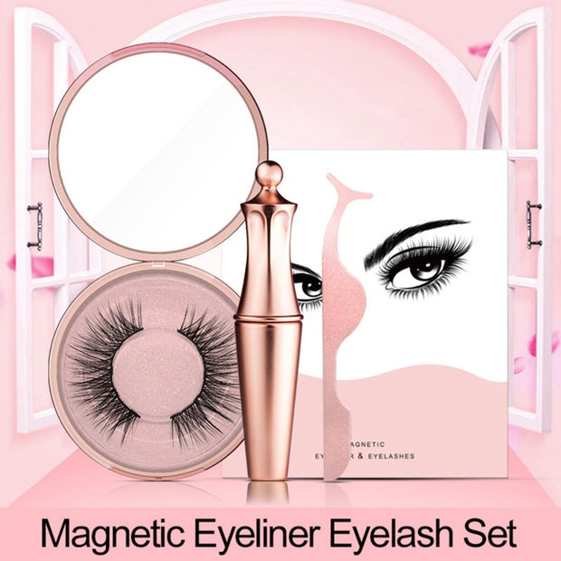 New 3D Fake Mink Magnetic Eyelashes & Magnetic Liquid Eyeliner - off4sale