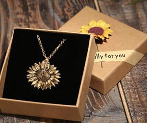 You Are My Sunshine Sunflower Necklace Narzorz