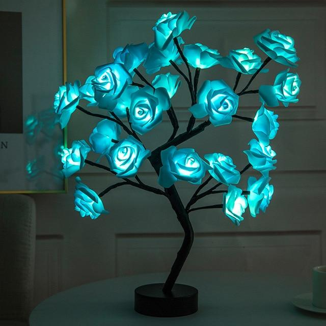 Rose Flower Tree Narzorz Blue
