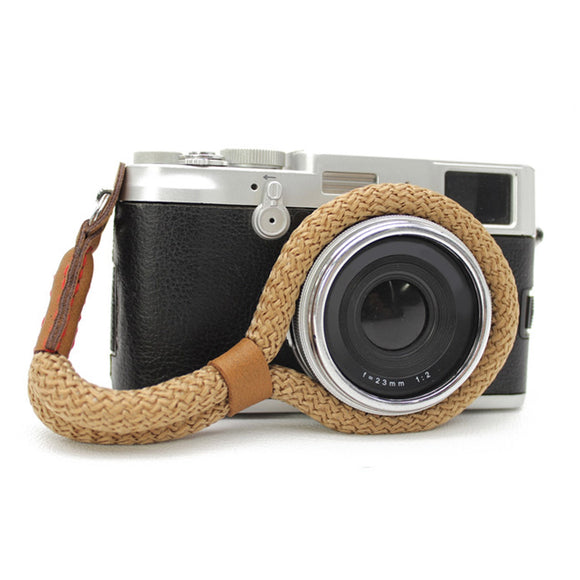 Vintage Soft Cotton Camera Carrying Wrist Strap Belt for Canon Sony Nikon Leica DSLR Mirrorless Camera