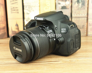 Canon EF-S 18-55mm F/3.5-5.6 IS II camera lens and Canon EOS 650D DSLR Camera