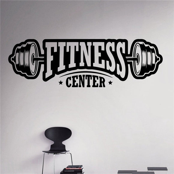 Free shipping Fitness Center Wall Decal Workout Gym Vinyl Sticker Healthy Lifestyle