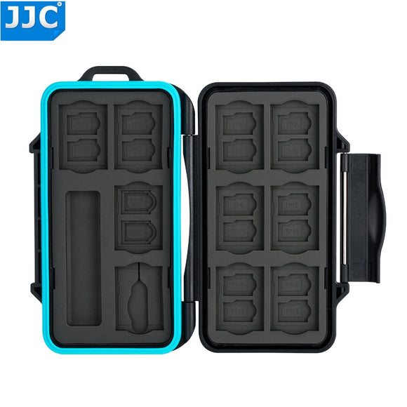 JJC Camera Memory Card Storage Water-Resistant Case for SD/Micro SD/TF/Micro SIM/Nano SIM SD