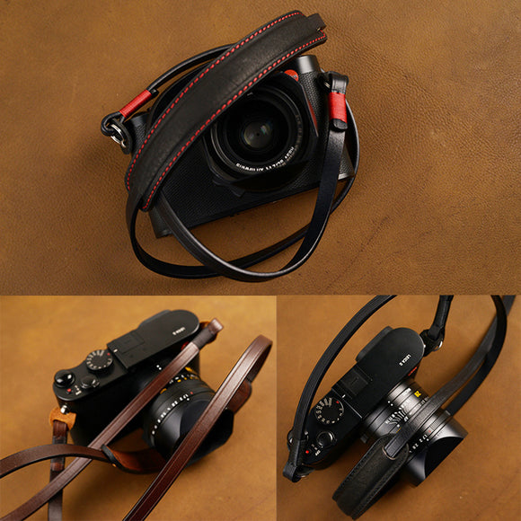 Genuine Leather Camera Strap Neck Belt Handmade Shoulder Sling For Canon Nikon Sony FUJI Fujifilm Leica Pentax