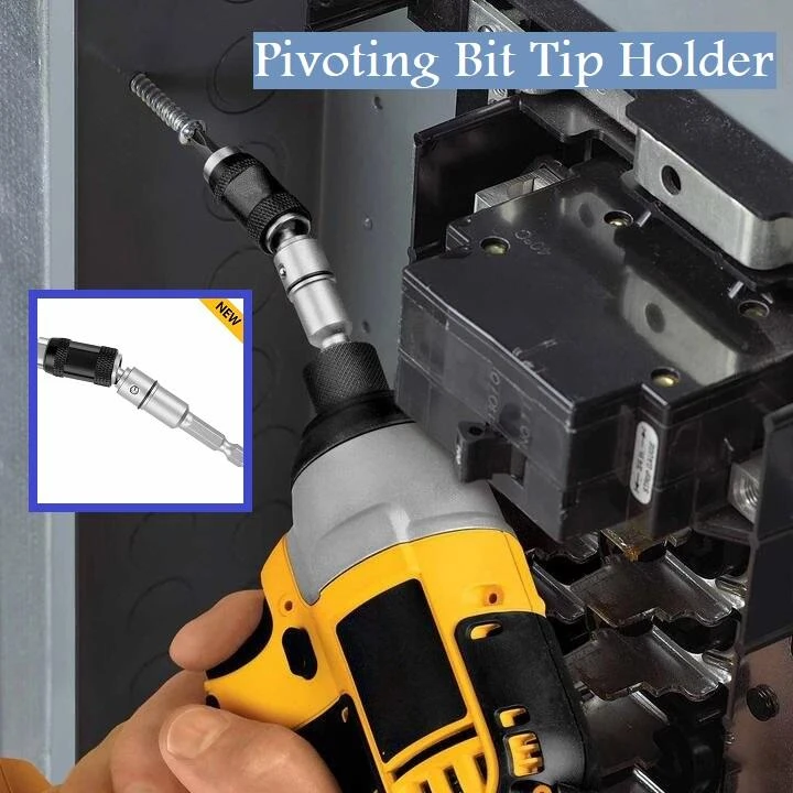 Pivoting Bit Tip Holder