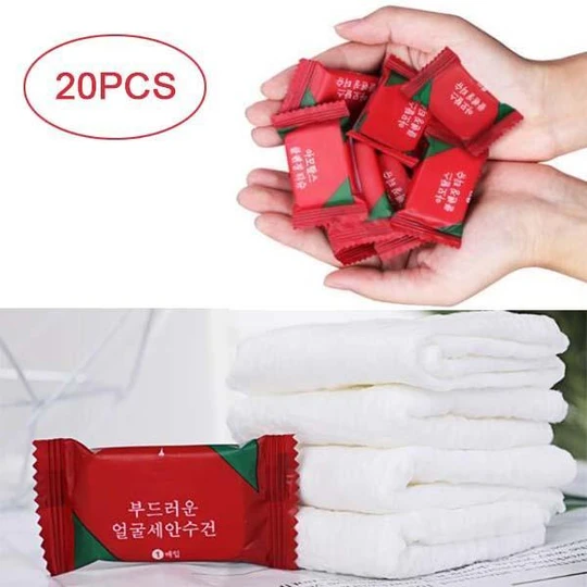 Disposable Travel Cotton Towel 20pcs