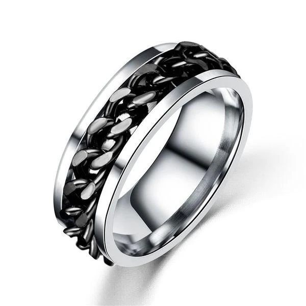 Titanium Steel Rotatable Chain Ring ( 2 pcs )
