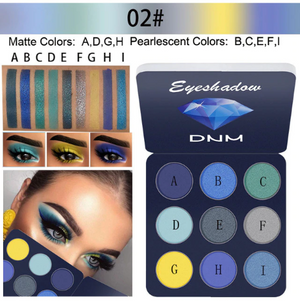 Masonry 9 Color Eye Shadow Color Palette