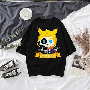 2020 CAT'S EYE NOVELTY TIDE BRAND LOOSE ANIME PRINT T-SHIRT MEN AND WOMEN