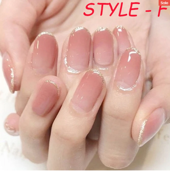 【HAPPY EASTER SALE - 2 FOR 1 ! ONLY $6.9 EACH !】French Manicure Ready-to-wear Gel Manicure