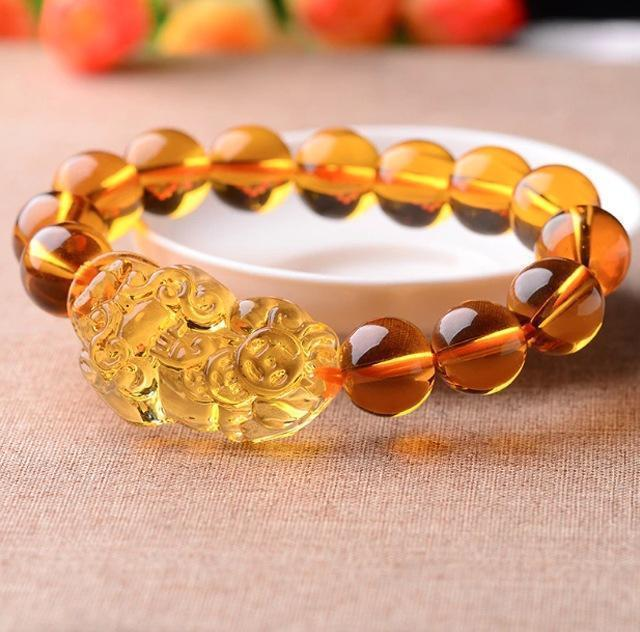 Limited Edition Citrine Lucky Pixiu Wealth Bracelet