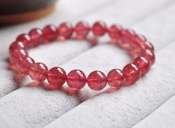 Strawberry Quartz Emotional Healing Bracelet