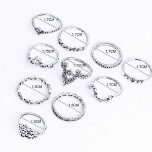 Iris Ring Stack - 10 Piece Set