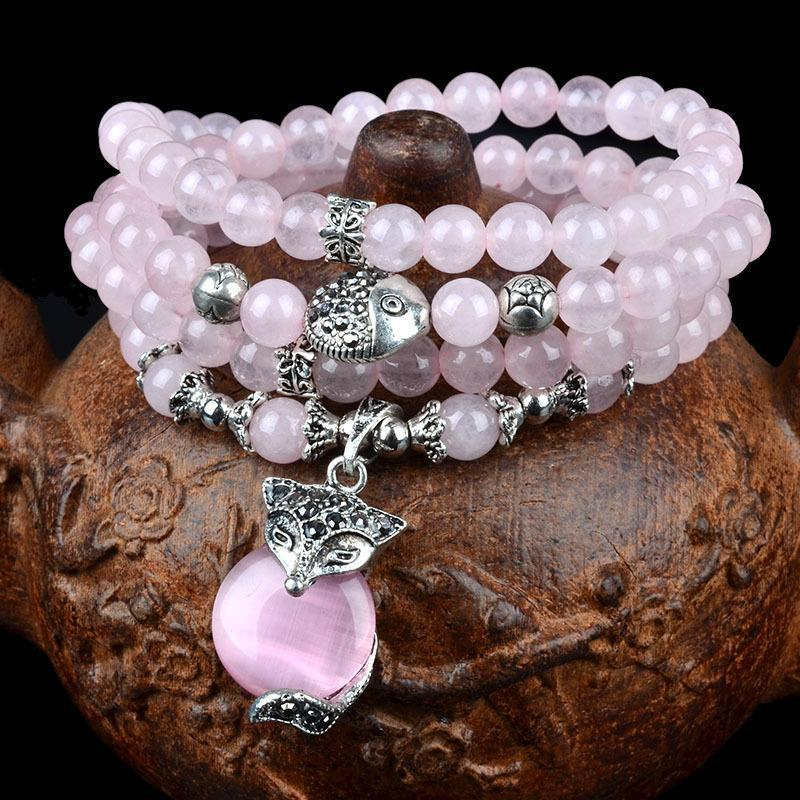 Natural Rose Quart Bracelet