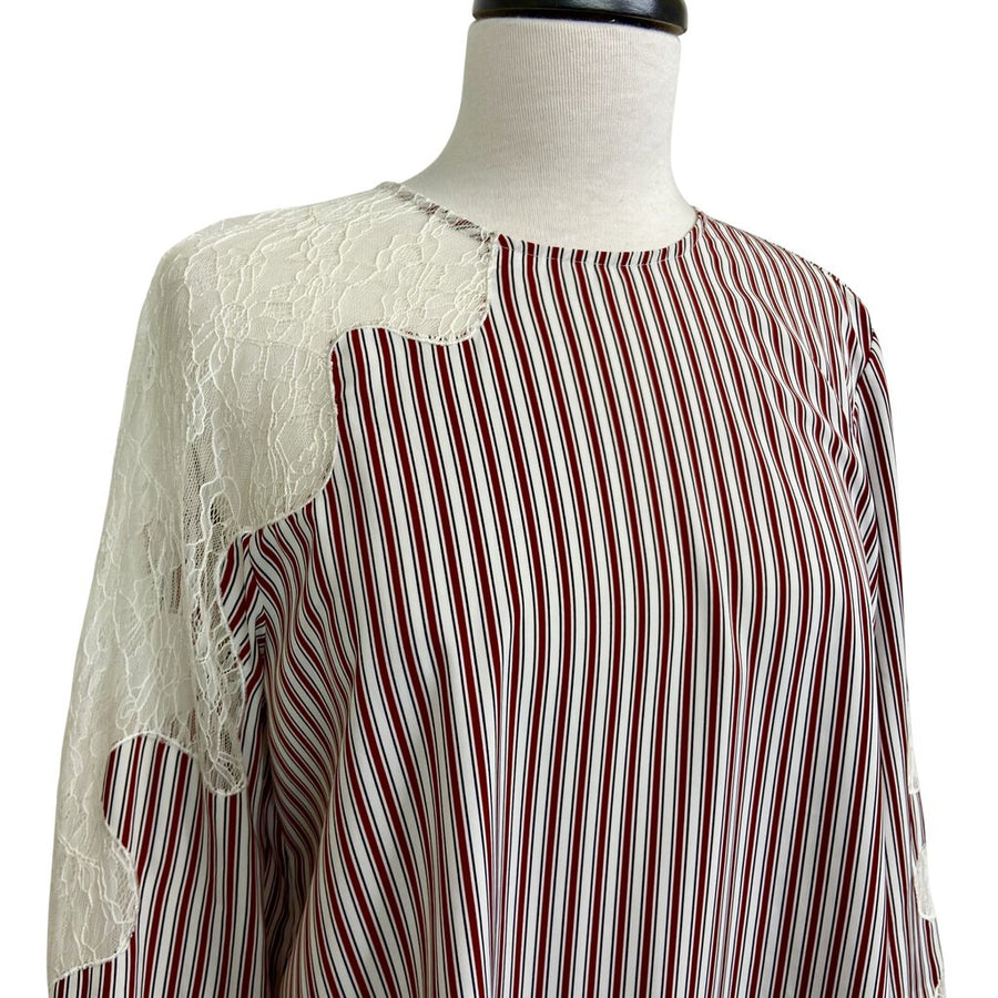 Robert Rodriguez women Blouse Red White L