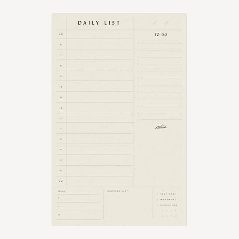 Daily List Organizer