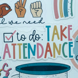 Take Attendance Sticker