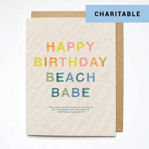 Beach Babe Birthday Card