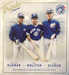 Alomar, Molitor, Olerud 1993 AL Batting Title Top 3 Triple Bobblehead
