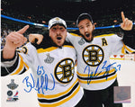 Brad Marchand & Patrice Bergeron Signed Boston Bruins 8x10 Framed Photo