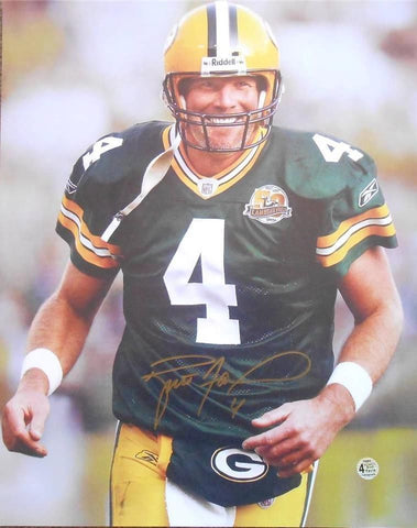 Brett Favre Signed Green Bay Packers 16x20 Photo