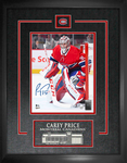 Carey Price Signed Montreal Canadiens 8x10 Etched Mat Frame