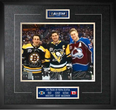 RARE The Pride of Nova Scotia Signed 2018 All-Star Game 11x14 Limited Edition Frame