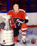 Reggie Leach Signed Philadelphia Flyers 8x10 Photo
