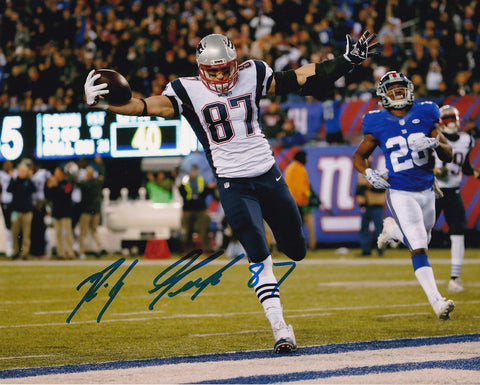 Rob Gronkowski Signed New England Patriots 8x10 Photo