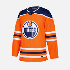 Men's Edmonton Oilers Adidas Authentic Home  Jersey