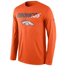 Men's Denver Broncos Nike Long Sleeve T Shirt