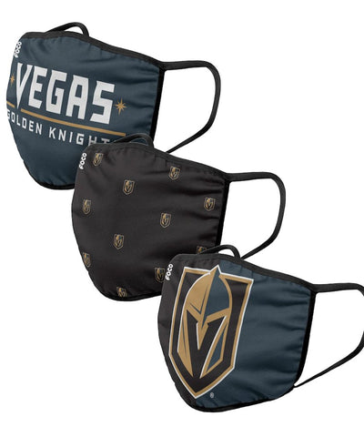 Las Vegas Golden Knights Face Mask - 3 Pack