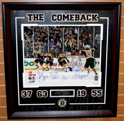 "Boston Bruins ""The Comeback"" Signed 16x20 Framed Photo"
