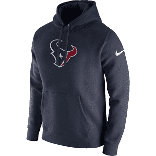 Men's Houston Texans Club Fleece Logo Pullover Navy Nike Hoodie