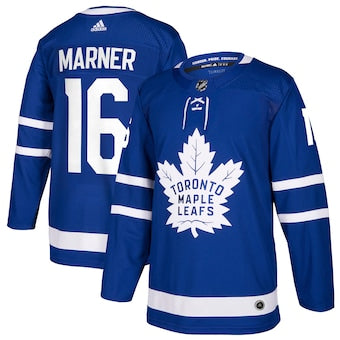 Men's Toronto Maple Leafs Mitchell Marner Adidas Blue Authentic Player Jersey