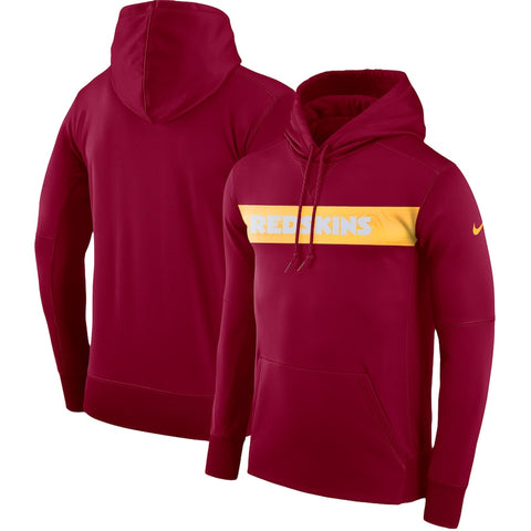 Men's Washington Redskins Burgundy Performance Pullover Nike Hoodie