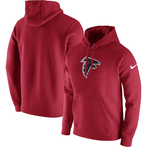 Men's Nike Red Atlanta Falcons Club Fleece Logo Pullover Hoodie