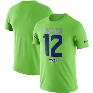 Men's Nike Neon Green Seattle Seahawks Local Lockup Performance T Shirt